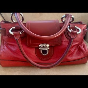 Marc Jacobs Red Leather Satchel-Rare